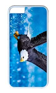 MOKSHOP Adorable Bald Eagle Flying Hard Case Protective Shell Cell Phone Cover For Apple Iphone 6 (4.7 Inch) - PC White