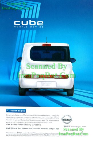Nissan Mobile - Nissan Cube: Mobile Device: Great Original Photo Print Ad!