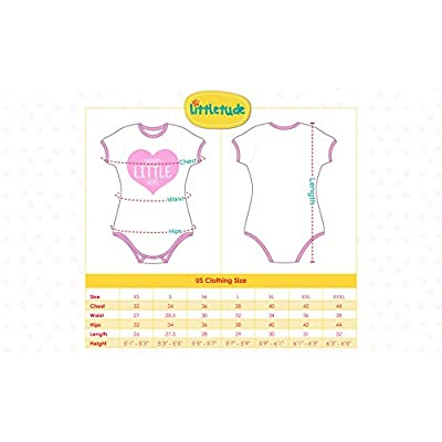 Littletude ABDL Onesie | Adult Baby Snap Crotch Romper Style | Flower Power: Clothing