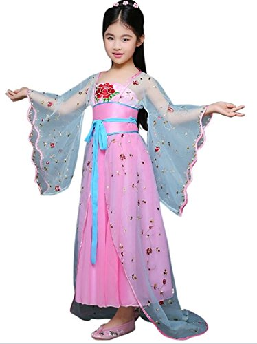 [CRB Chinese Asian Royal Qin Xin Han Traditional Dynasty Oriental Pretty Girl Top Shirt Costume Dress (Child's Height 150cm,] (Chinese Dynasty Costume)