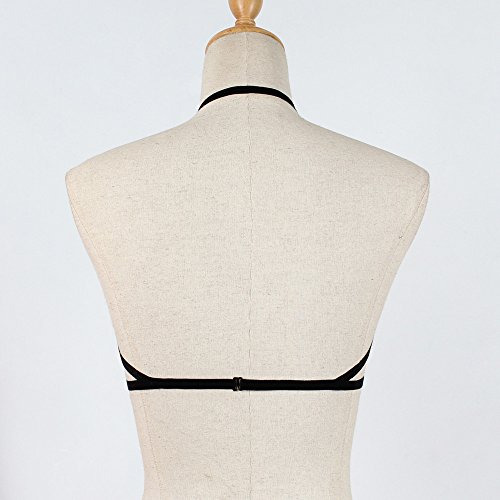 del Strappy junjie corsetto fasciatura corsetto delle vuoto del donne del della Nero reggiseno di del reggiseno sexy donne delle autorizzazione del reggiseno qqwfpB