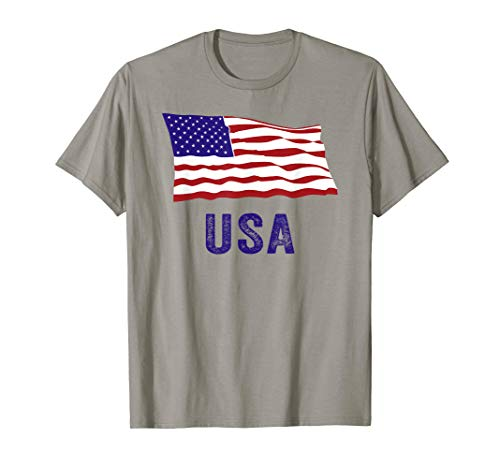 American US Flag Tee USA Patriotic 4th Of July T-Shirt]()