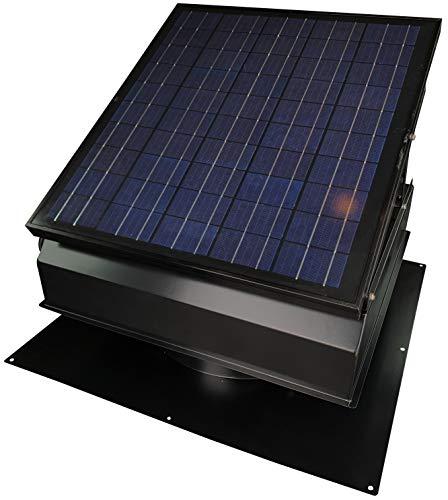 40-Watt Solar Attic Fan with Thermostat/Humidistat/Adapter (22.5 x 22.5 x