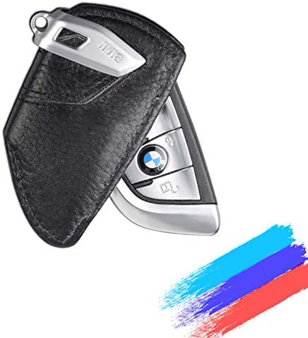 MASHA BMW Key case Car Key Fob Cover Genuine Leather Smart Key Remote Case Cover Fob Key Bag Fits BMW Accessory