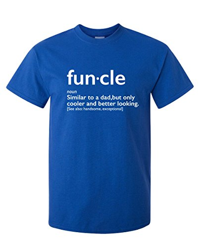 Funcle Uncle Gift Idea Novelty Graphic Humor Sarcastic Cool Very Funny T Shirt L -