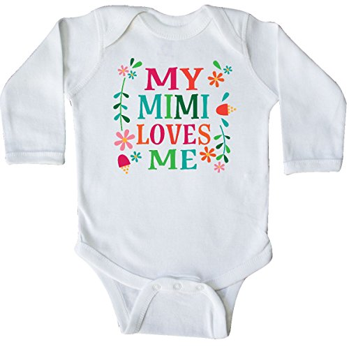inktastic - My Mimi Loves Me Girls Outfit Long Sleeve Creeper 12 Months White -