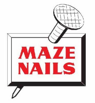 MAZE NAILS H528A-5 Pole Barn Ring Shank Nails, 5-Pound 5-Inch 40D Ring Barn Nail