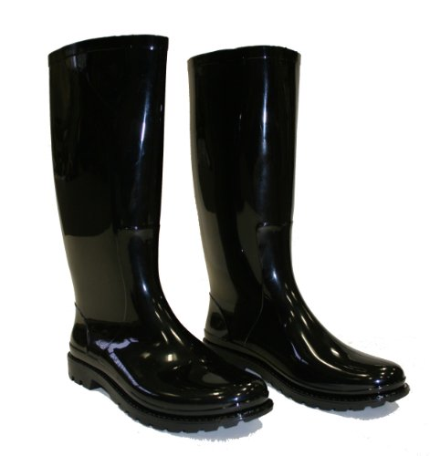 Town and Country The Bardon Bottes de pluie en PVC Noir brillant Pointure 38