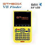 GTMEDIA V8 Finder Digital Satellite TV Signal Finder Meter Adjustment of Satellite Antennas, Full HD DVB S2 Compliant 3.5'' LCD Built-in 3000mAh Battery