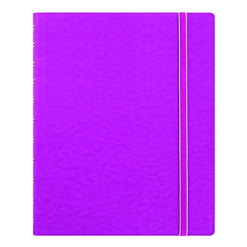 "Filofax Letter Size Notebook, 10.875"" x 8.5"", 112 Ruled Pages, Fuchsia (B115105U)"