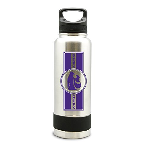 - NCAA Kansas State Wild Cats 38oz Double Wall Stainless Steel Large Water Bottle