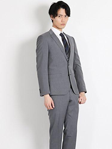 2ボタン 組織柄 グレー スーツ 1.10012E+14 メンズ
