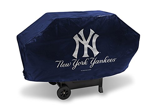 (Rico Industries MLB New York Yankees Deluxe Grill Cover, 68