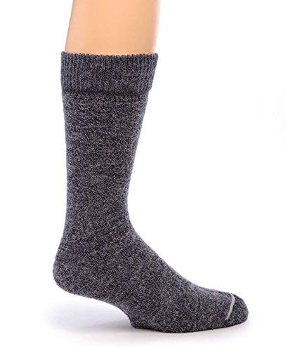 Warrior Alpaca Socks – Women's Outdoor Alpaca Wool Socks, Terry Lined with Comfort Band Opening (S, Denim)