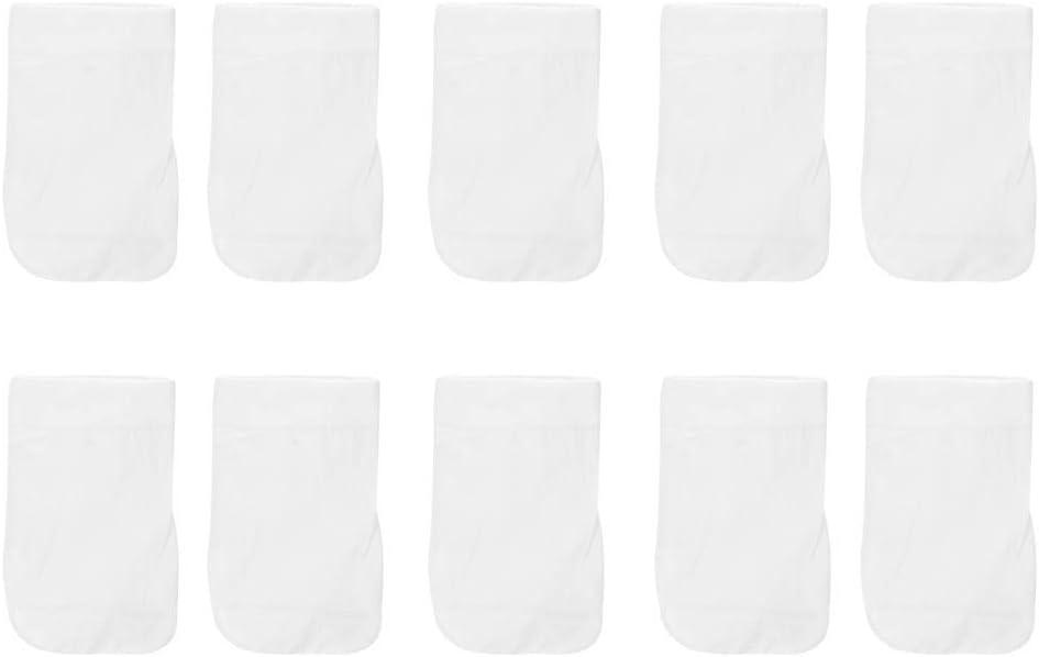"""Ymiko 10 Pack 7.9"""" 4.7"""" Fine Mesh Bag Cotton Vacuum Pool Cleaner Bag Pool Filter Bag"""