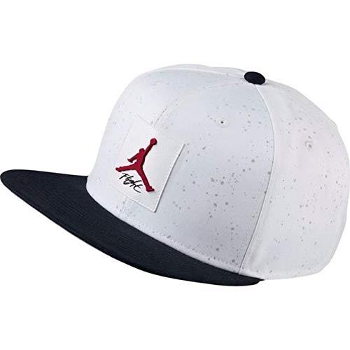 Nike Jordan Pro Printed Snapback Hat (One Size, White/Black/Gym Red)