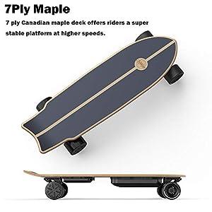 """Teamgee Skateboard électrique H20 Mini 31 """"avec Planches Longues à Distance Skateboard conçu pour Les Adolescents et Les Adultes, Vitesse maximale 24PMH"""