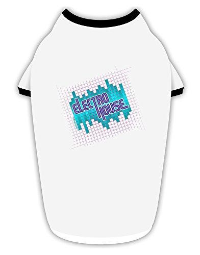 Music Equalizer House (TooLoud Electro House Equalizer Cotton Dog Shirt White with Black Medium)