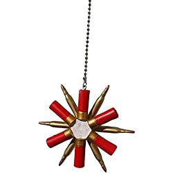 Sports theme ceiling FAN PULL light chain extension (Hunting - Shotgun shell & bullet wreath)