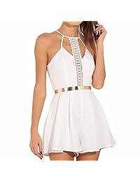 IEason Women Dresses Women Solid Lace Sling Vest Rompers Camisole Jumpsuits Clothes