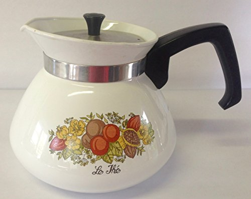 - Corning Ware Rare 6 Cup Teapot Kettle Spice Of Life Le The P-104