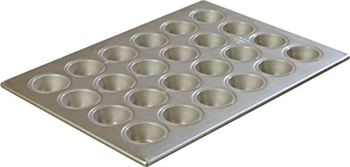 Carlisle 601829 Steeluminum 24 Cup Heavy Duty Mini Muffin/Cupcake Pan, 18'' Length x 13'' Width, 1.75-oz Capacity (Case of 6) by Carlisle (Image #4)
