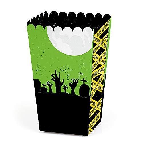 Zombie Zone - Halloween or Birthday Zombie Crawl Party Favor Popcorn Treat Boxes - Set of 12 ()