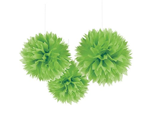 (Amscan Kiwi Green Fluffy Paper Decoration For Parties, 3)