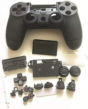 Carcasa Completa con Botones para PS4 Slim Pro para Playstation 4 DualShock 4 Slim Pro 4.0 JDS-040 JDM-040 Mando inalámbrico (Negro): Amazon.es: Electrónica