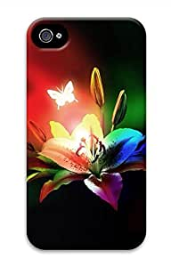 Rainbow Lily Hard Case Cover Skin for iPhone 4 4S