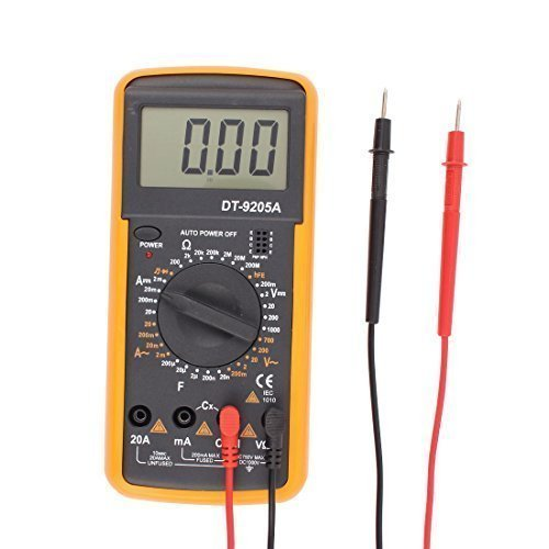 sourcingmap® Digital Multimeter AC DC Voltmeter Amperemeter Ohmmeter Kapazitätsmessgerät