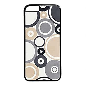Grey Beige Circle Persalized Cover Case for Apple iPhone 6 Black by runtopwell