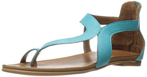 JSlides Women's Belle Flat Sandal - Turquoise - 7 B(M) US