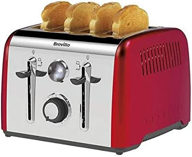 Breville Aurora 4 Slice Toaster - Red