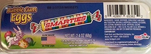 - Smarties Bubble Gum Easter Eggs (12 egg shaped pieces of gum)