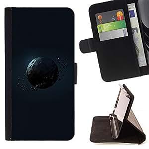 For Samsung Galaxy Note 5 5th N9200 Case , Polígono Planet- la tarjeta de Crédito Slots PU Funda de cuero Monedero caso cubierta de piel