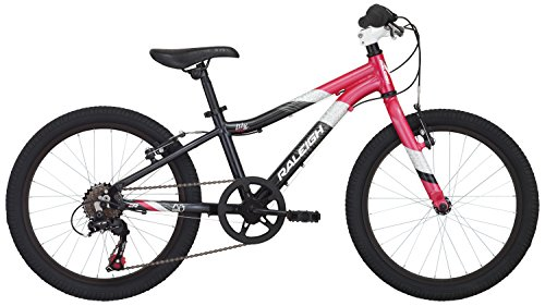"Raleigh Bikes Raleigh Lily 20 Girl's Mountain Bike, 20"" Wheels, Black"