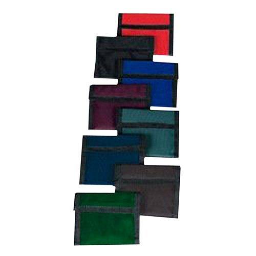 Nylon Hook and Loop Wallets (Basic Colors) (1 Dozen) - Bulk [Toy] (Wallet Velcro Nylon)