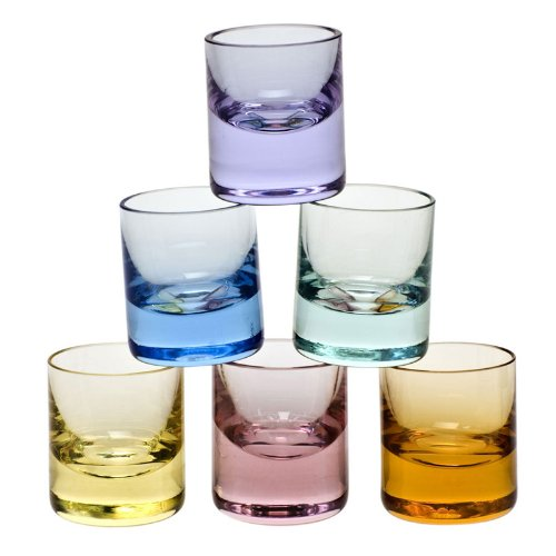 MOSER CRYSTAL WHISKY SHOT GLASSES Mini shot glass 0.5 oz. set of 6 by Moser