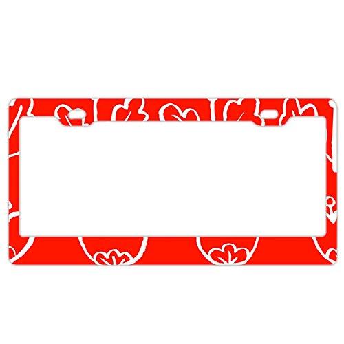 Frame Tulip Chrome (Elvira Jasper Tulip Flowers Metal License Plate for Car, Metal Car License Plate, Car Tag 6