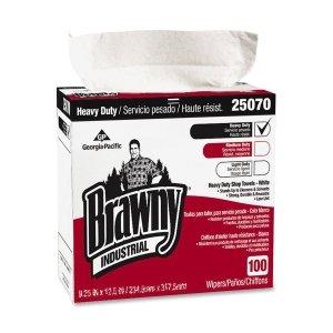- GPC25070 GEORGIA PACIFIC Medium Weight HEF Shop Towels, 9 1/10 x 16 1/2, 100/Box