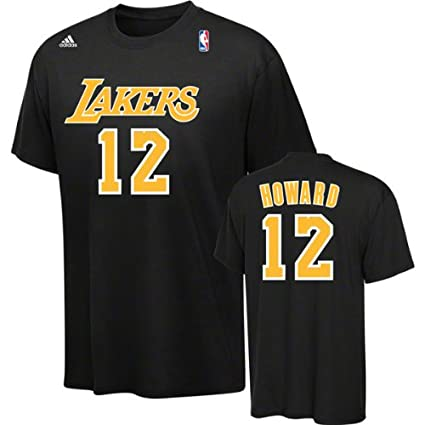 ac653844858 Amazon.com: Dwight Howard adidas Black Name and Number # 12 Los Angeles  Lakers T-Shirt: Sports & Outdoors