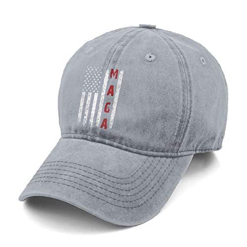 Make America Great Again MAGA Print Vintage Lovely Men & Women Adjustable Jeans Dad Hat Cotton Baseball Cap Gray by FFbbht (Image #1)