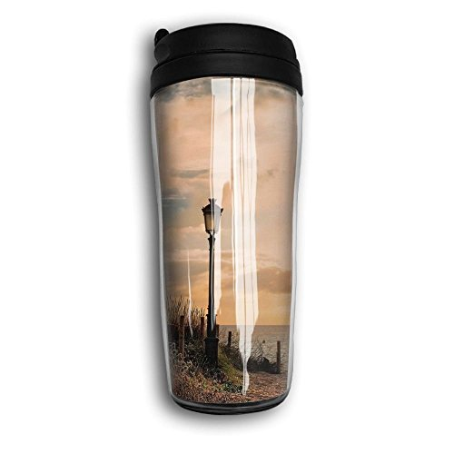 YESDAY Sand Beach Town Spain Stainless Steel Travel Coffee Mug, 12 Oz. by YESDAY