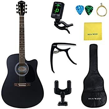 41 inch full size black handcrafted steel string dreadnought acoustic guitar. Black Bedroom Furniture Sets. Home Design Ideas