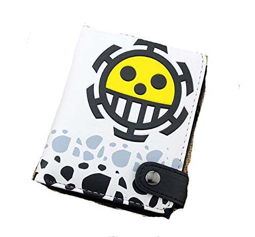 Weeck Anime One Piece Straw Hat Pirates Jolly Roger Wanted Gift Leather Wallet (4)