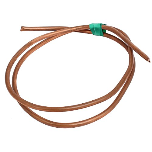 uxcell 4mm Outer Dia 1M Length Refrigerator Copper Tube Coil Copper Tone