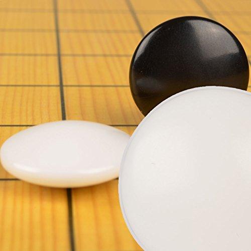 Melamine Double Convex Stones, 7.5 Millimeters (Size 28) (Go Stones Game)