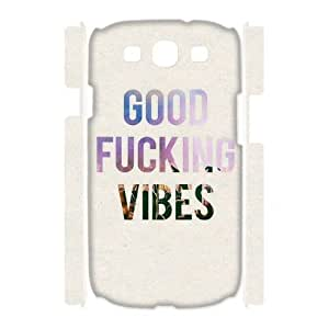 Custom New Case for Samsung Galaxy S3 I9300 3D, Good Vibes Phone Case - HL-505060