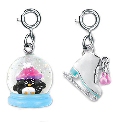Snowglobe Charm (CHARM IT! Winter Fun Glitter Ice Skate and Snowglobe Penguin 2 Charm Ribbon Bag Set)
